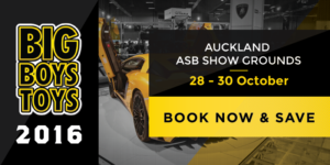 New Zealand's premier male lifestyle and entertainment show BIG BOYS TOYS takes place at the ASB Showgrounds, Greenlane 28 October - 30 October 2016